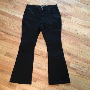 Venus black bell bottom/flare jeans size 18